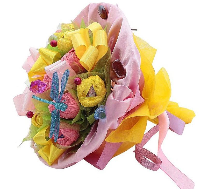 Букет из цветов в подарок на свадьбу фото