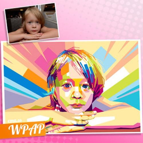 Детский WPAP-портрет по фото