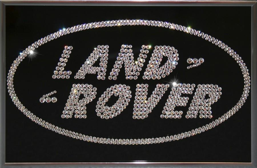 Картина с кристаллами Сваровски Land Rover