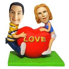 Статуэтка по фото для влюбленных Большое сердце