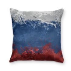 Подушка с 3D принтом Флаг России
