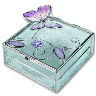 Шкатулка  «Розовая бабочка»