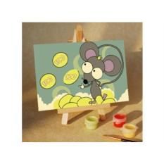 Картины по номерам «Денежная мышь»