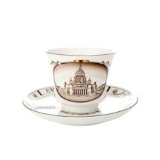 Чайная чашка с блюдцем, форма Банкетная, рисунок Исаакиевский собор