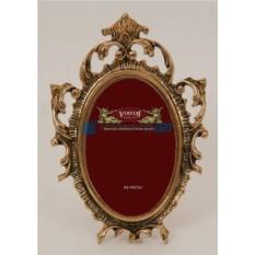 Фоторамка из бронзы Рококо золотого цвета