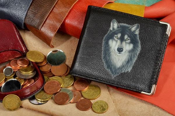 Портмоне Рисунок волка