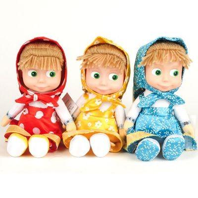Кукла Маша, 29 см, из мультика Маша и медведь, (голубая)