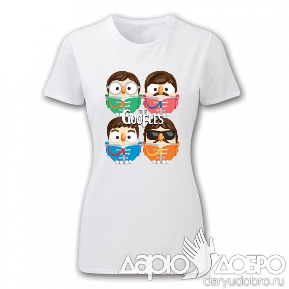 Женская футболка с совами Goofles Goofi