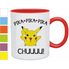 Кружка с покемоном Пикачу pika pika pika chuuuu