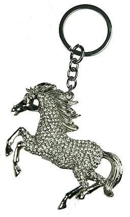 Брелок для ключей Лошадка, со стразами