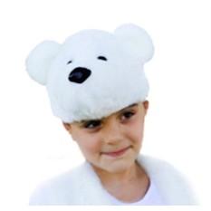 Карнавальная шапочка Белый мишка