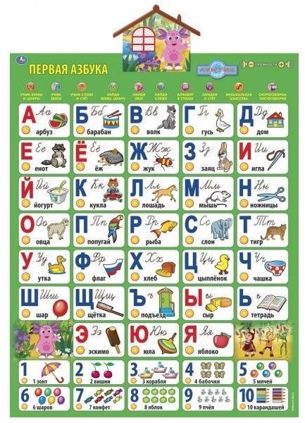 Первая Азбука. Учим с Лунтиком - Говорящий плакат