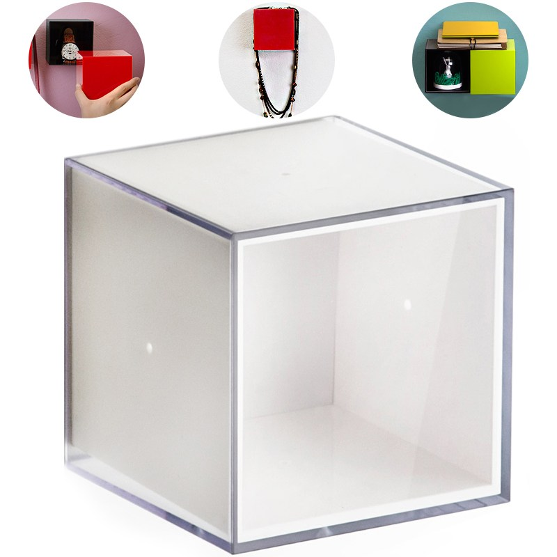 Полка-вешалка Pixel прозрачно-белая