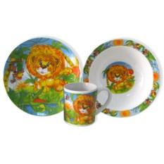 Набор детской посуды «Львенок»