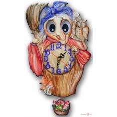Часы настенные с маятником Баба-Яга