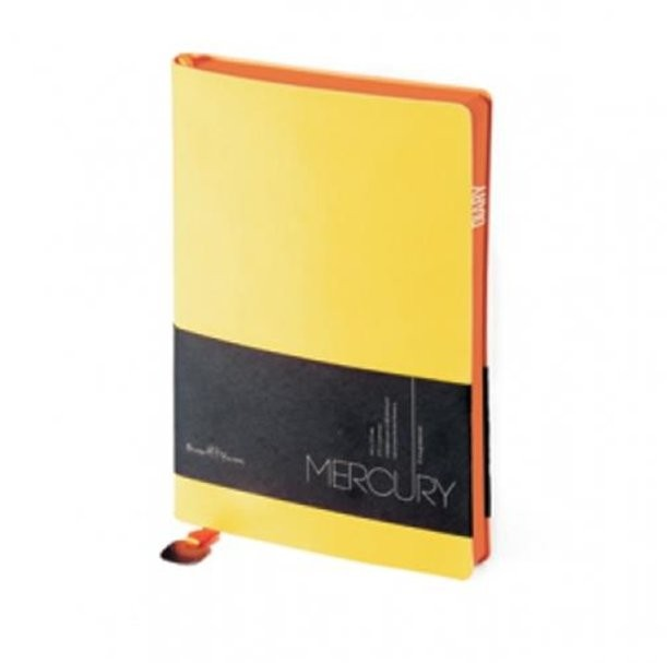 Желтый недатированный ежедневник Mercury А5