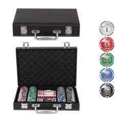 Покерный набор в кожаном кейсе на 200 фишек
