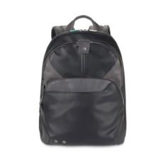 Черный расширяемый компьютерный рюкзак Piquadro Coleos