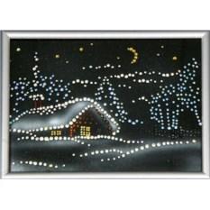 Картина Swarovski Новогодняя ночь