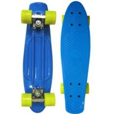 Синий скейт с желтыми колесами Cruiser Board ecoBalance
