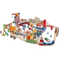ROYS Деревянный набор Железная дорога - Городская гавань