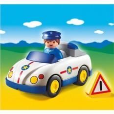 Конструктор Playmobil 1.2.3 Полицейская машина