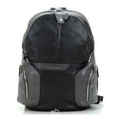 Черный большой функциональный рюкзак Piquadro Coleos