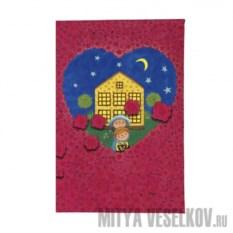 Обложка для паспорта Влюбленные в розах