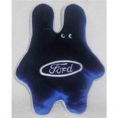 Синяя подушка Ford в форме зайца