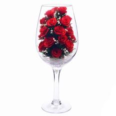 Цветы в стекле: Композиция из роз