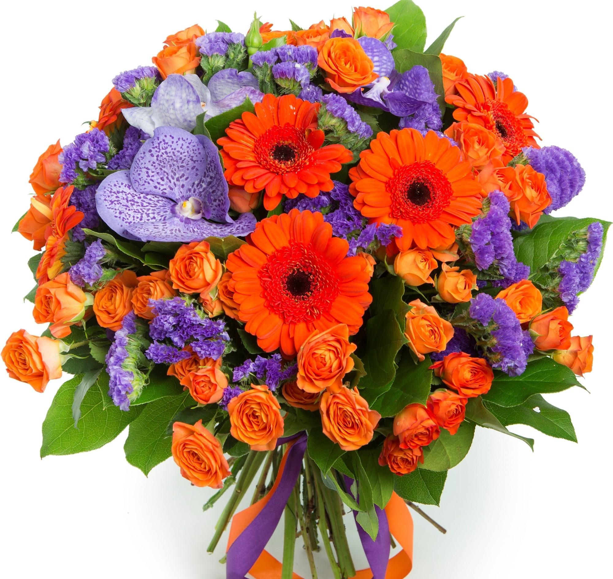 букеты оранжевых цветов перон знал