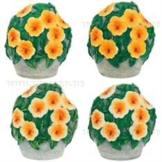 Декоративное садовое изделие Цветы на камне. Петунья