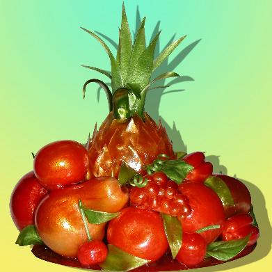 Сладкий подарок «Карамельные фрукты»