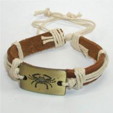 Кожаный браслет Рак
