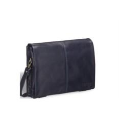 Кожаная сумка через плечо Brialdi Chelsea (цвет — синий)