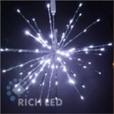 Белая светодиодная гирлянда Ежик (диаметр 30 см)