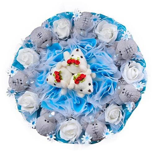 Букет из игрушек-мишек Ромашковый рай