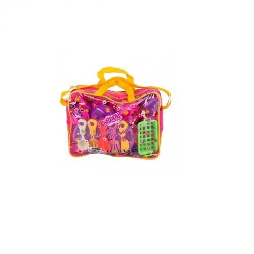 Пластмассовая игрушка в сумке Набор посуды
