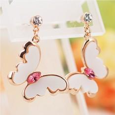 Серьги с кристаллами Сваровски Поцелуй бабочки