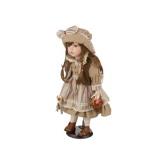 Фарфоровая коллекционная кукла с мягконабивным туловищем