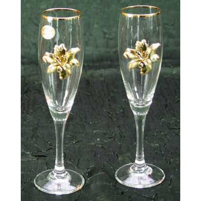 Набор бокалов для шампанского «Лилия»