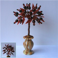 Дерево любви из граната в вазочке из оникса