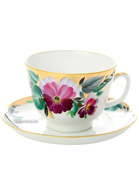 Чайная чашка с блюдцем, форма Подарочная, рисунок Вера