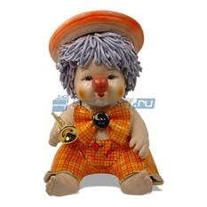 Статуэтка из фарфора Клоун  в шляпе