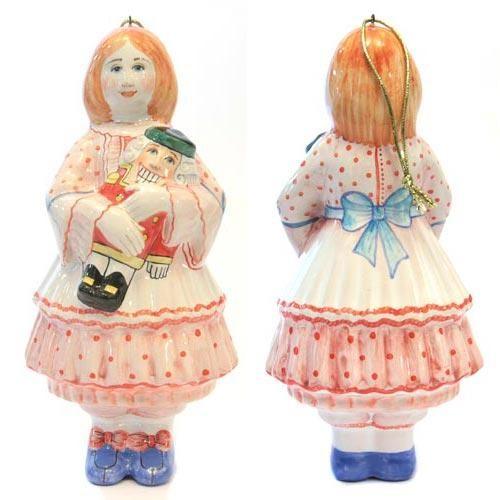 Ёлочная игрушка Девочка со щелкунчиком *