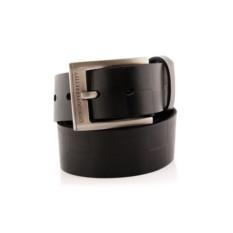 Черный мужской кожаный ремень тип 37-6