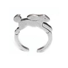 Кольцо Зайка, серебро 925