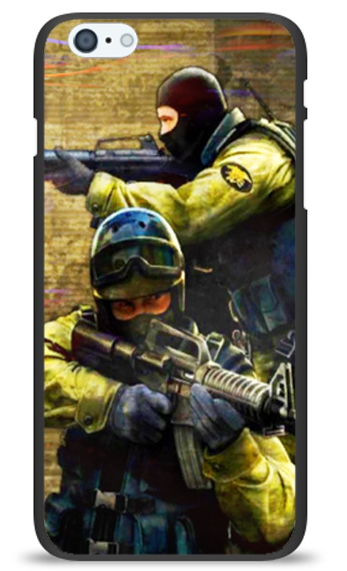 Чехол на телефон Мужики с оружием