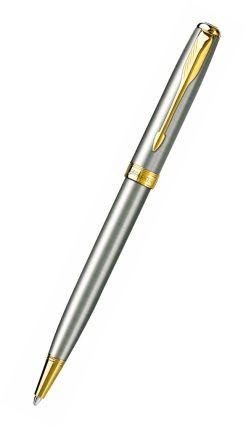 Шариковая ручка Parker Sonnet K527, стальной/позолота