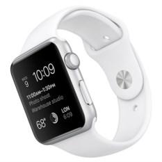 Серебристые часы Apple Watch Series-1 White Sport Band